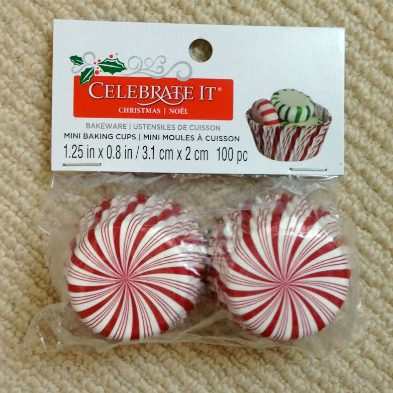 Peppermint Candy Mini Cupcakes Cases