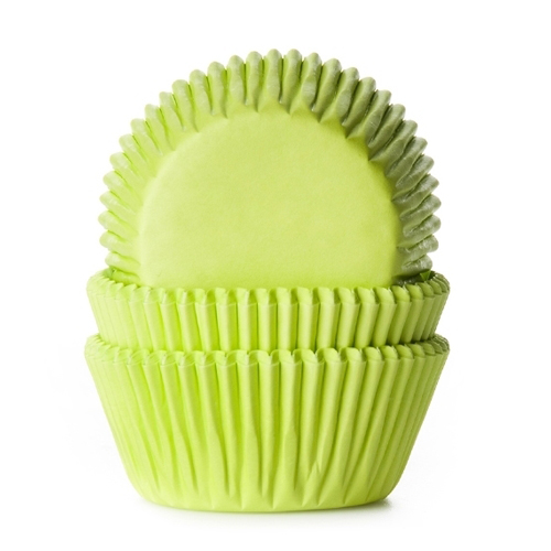 Cupcake Baking Cases - Lime Green
